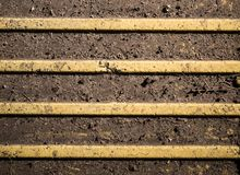 Blindenschrift-Pflasterung - Tastpflasterungsoberfläche Beschaffenheit, Muster Lizenzfreie Stockfotografie