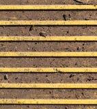 Blindenschrift-Pflasterung - Tastpflasterungsoberfläche Beschaffenheit, Muster Stockbilder