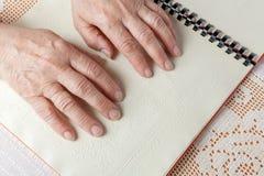 Blindenschrift-Sprache Stockbild