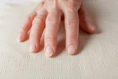 Blindenschrift-Sprache Stockbilder