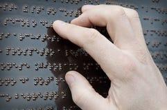 Blindenschrift-Tastguß Lizenzfreies Stockfoto