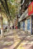 Blinder Bürgersteig in Xian-Stadt im Winter Lizenzfreie Stockfotos