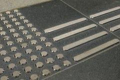 Blinder Gehweg Stockbilder
