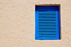 in blinder gelber Wand santorini Europas Griechenland Lizenzfreies Stockbild