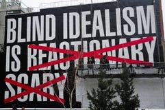 Blinder Idealismus ist Kunstausstellung Stockfoto