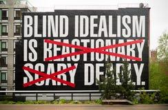 Blinder Idealismus ist tödlich Lizenzfreies Stockbild