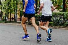 blinder Läuferathlet Stockfoto
