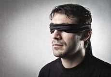 Blinder Mann Lizenzfreie Stockfotografie
