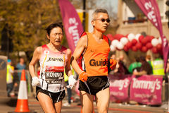 Blinder Marathon-Läufer Lizenzfreie Stockbilder
