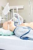Blinder Patient im Krankenhaus Stockbilder