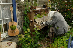 Blinder Pianist Lizenzfreie Stockbilder
