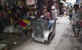 Blinder Sänger in Saigon Lizenzfreie Stockbilder