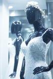 Blindes Brautmannequin des Brautshops Stockbilder