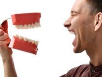 Blindes glückliches Lächeln großer Zähne Zahnarztdoktors Lizenzfreies Stockfoto