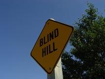 Blindes Hügel-Zeichen Lizenzfreie Stockfotografie