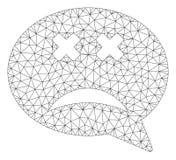 Blindes Smiley Message Vector Mesh Wire-Rahmen-Modell lizenzfreie abbildung