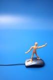 Blindes Surfen auf das Netz Stockbilder