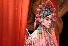 Blindes und rotes Tuch der chinesischen Oper Stockbilder