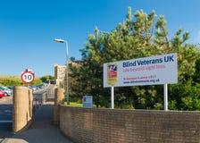 Blindes Veterane Großbritannien-Ferienheim Lizenzfreie Stockfotos
