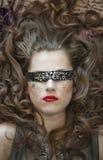 blindfold γυναίκα μόδας Στοκ Εικόνες
