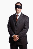 blindfold επιχειρηματίας στοκ φωτογραφία με δικαίωμα ελεύθερης χρήσης