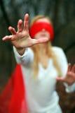 blindfold красный цвет Стоковая Фотография