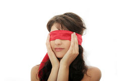 Blindfold beauty Royalty Free Stock Image