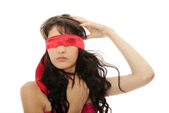Blindfold beauty Royalty Free Stock Photos