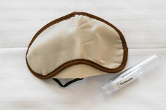 Blindfold for bed and travel set of dental Stock Photo