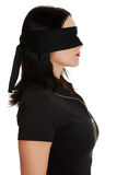 Blindfold business woman Royalty Free Stock Photo
