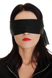 Blindfold business woman Royalty Free Stock Images