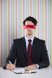 Blindfold businessman Royalty Free Stock Photos