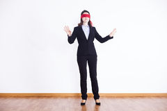 Blindfold businesswoman Stock Photos