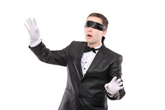Blindfold elegant man Stock Photo