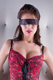 Blindfold seductive woman Stock Photo