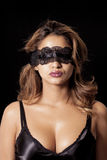Blindfold woman Royalty Free Stock Images
