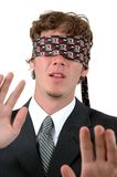 Blindfolded Royalty Free Stock Photography