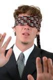 Blindfolded Στοκ φωτογραφία με δικαίωμα ελεύθερης χρήσης