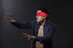 Blindfolded Royalty Free Stock Images