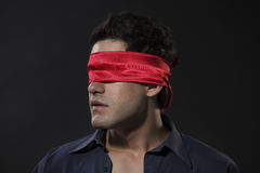 Blindfolded Stock Image