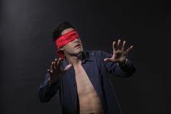 Blindfolded Royalty Free Stock Photos