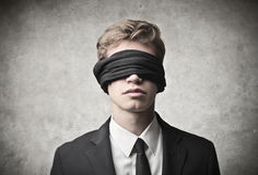 Blindfolded Royalty Free Stock Image