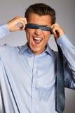 Blindfolded businessman Royalty Free Stock Photo