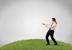 Blindfolded businessman Royalty Free Stock Images