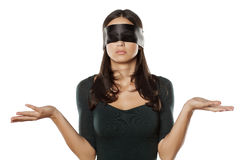Blindfolded and confused Stock Image