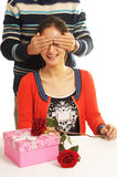 Blindfolded couples Stock Photos