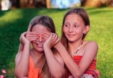 Blindfolded girl Royalty Free Stock Photos