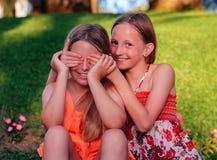 Blindfolded girl Stock Photography
