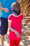Blindfolded girl Royalty Free Stock Image