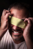 Blindfolded man Royalty Free Stock Photography